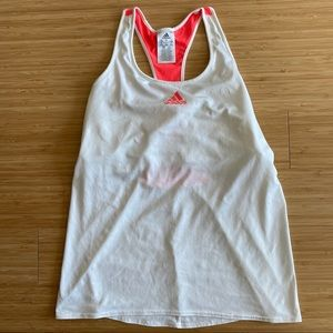 ADIDAS White and Pink Tank Top